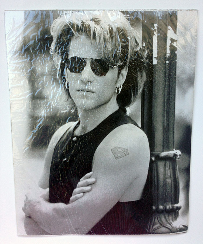 "10 x 8"" Black & White photo of Jon Bon Jovi circa Keep the Faith era"