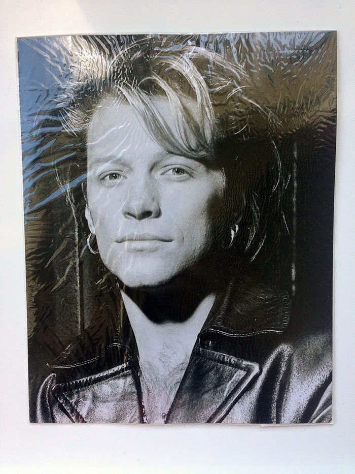"10 x 8"" Black & White Portrait photo of Jon Bon Jovi circa Keep the Faith era."