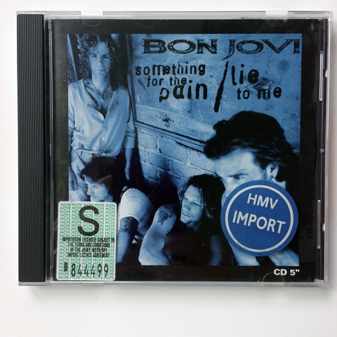 SOMETHING FOR THE PAIN/LIE TO ME - US 4-track Maxi-Single