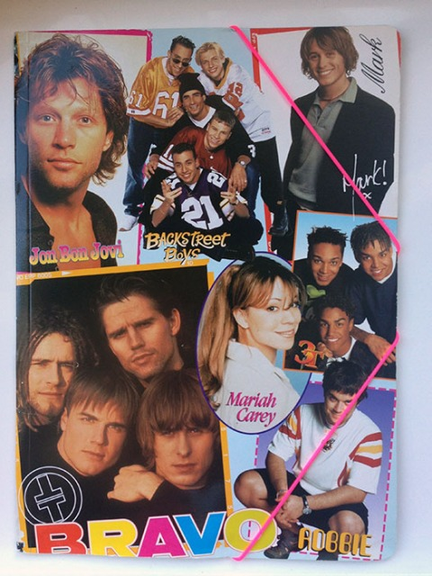 Bravo Magazine Elasticated Folder featuring Jon Bon Jovi - Germany