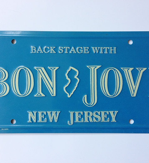 Backstage with Bon Jovi License Plate