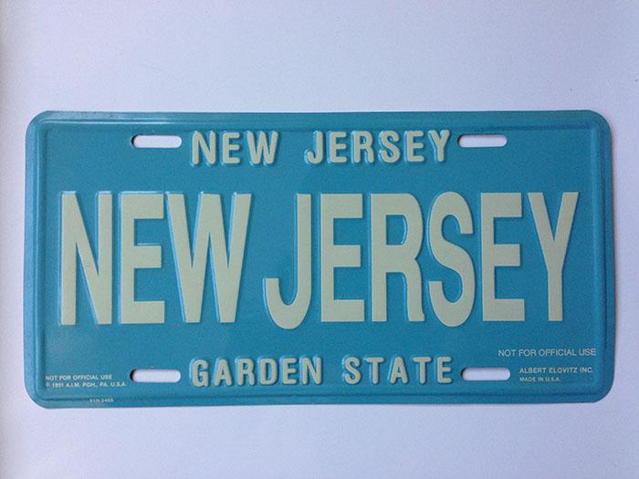 New Jersey - Novelty License Plate