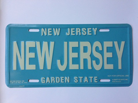 New Jersey - Novelty License Plate