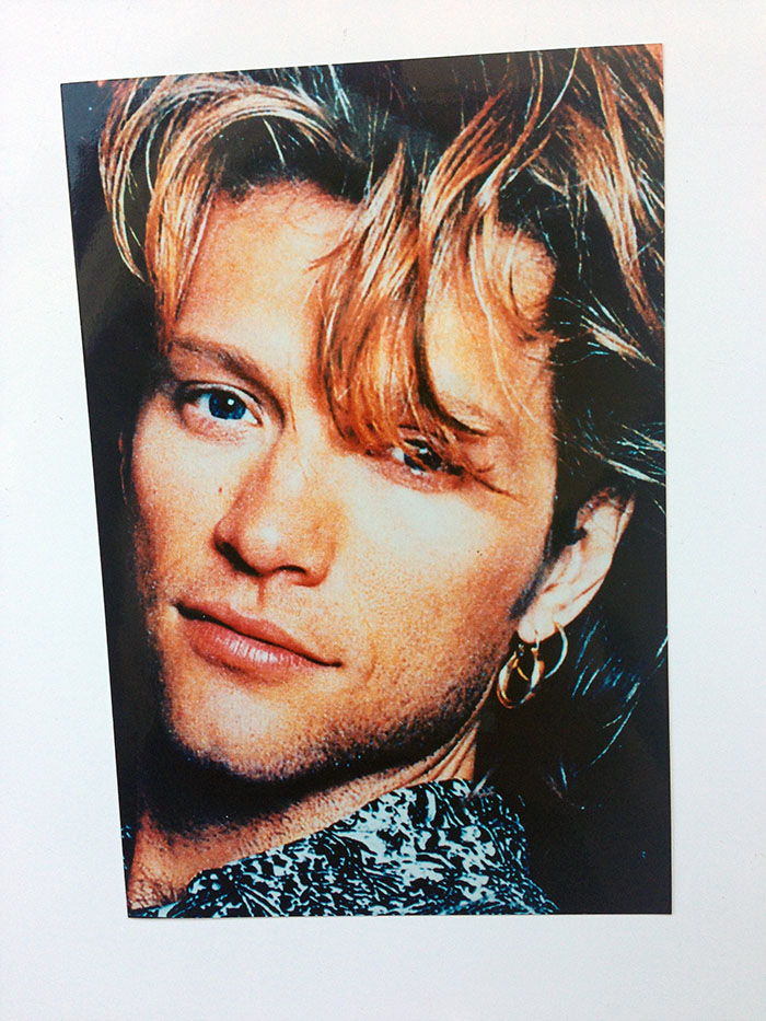 "6 x 4"" studio portrait photograph of Jon Bon Jovi"