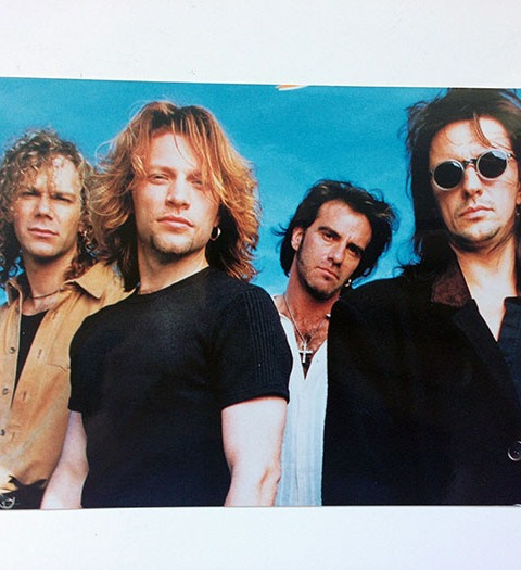 "6 x 4"" photograph of Bon Jovi during album photo shoot"