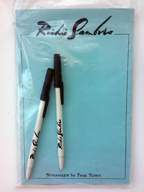 RARE Richie Sambora Fan Club Paper and Pens