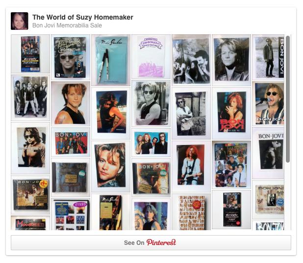 Bon Jovi Memorabilia Sale Pinterest Board