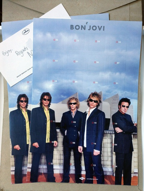 Bon Jovi Crush Advent Calendar