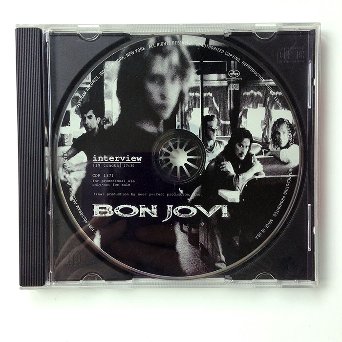 CROSS ROAD BON JOVI INTERVIEW DISC - Mega rare 1994 US Promotional 19-track interview picture CD (CDP 1371)