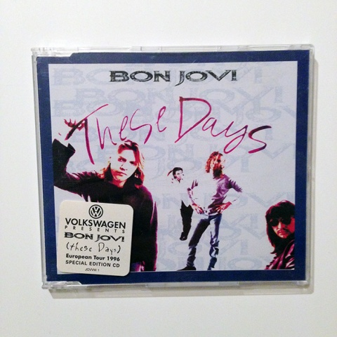 THESE DAYS - UK promotional only 4-track CD single (JOVVW 1)