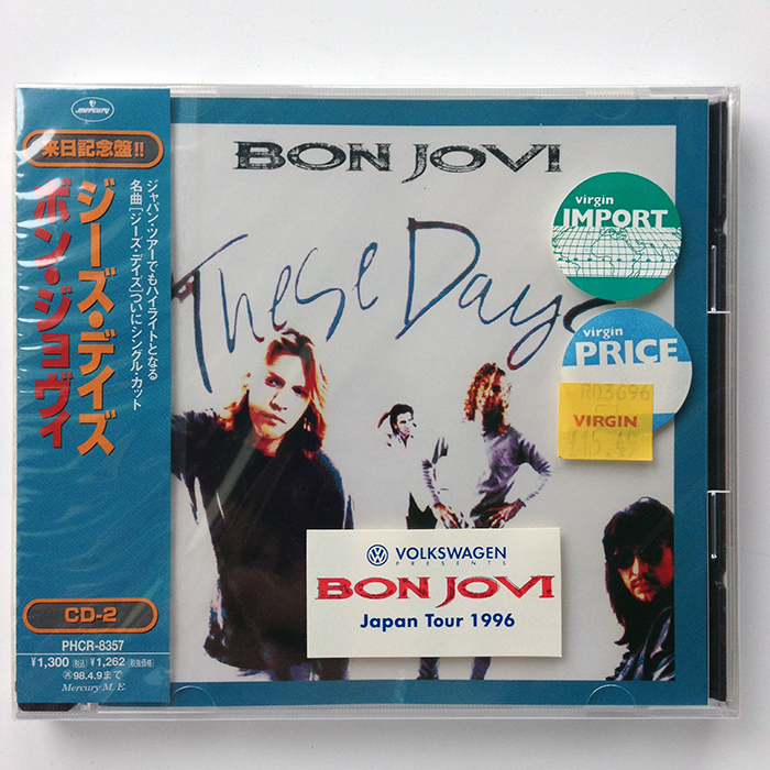 THESE DAYS - Rare Japanese 4-Track Maxi Single CD2 of 2 (PHCR-8357).