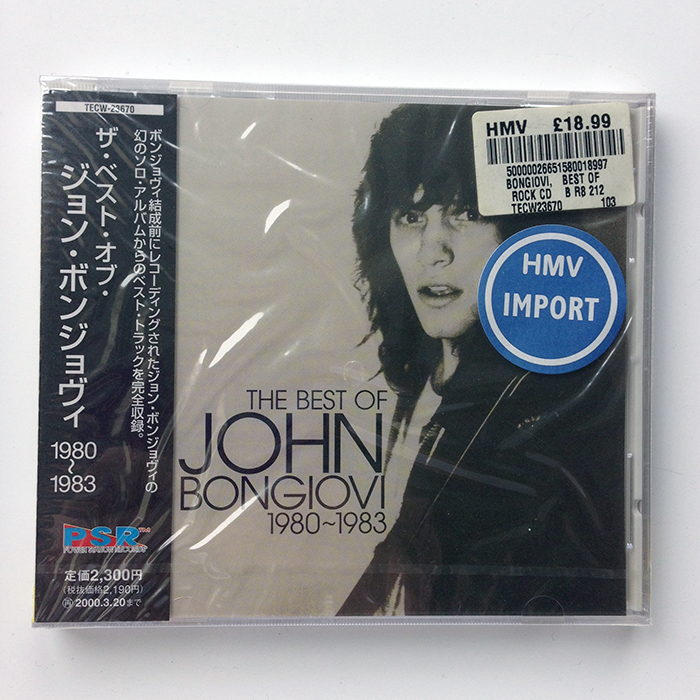 The Best of John Bongiovi 1980-1983 - Japan (TECW-23670)