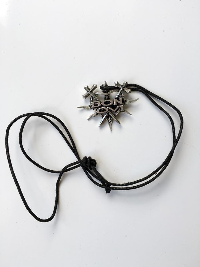 Bon Jovi Keep the Faith Flaming Heart Necklace - www.bonjovisale.com