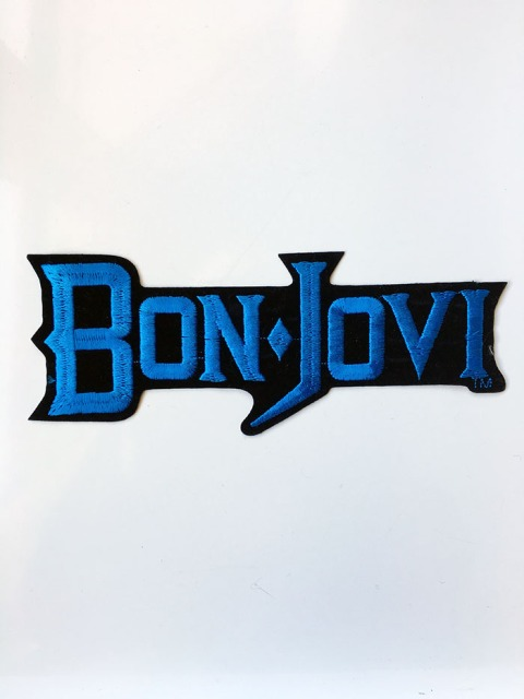 Bon Jovi large blue sew on patch - www.bonjovisale.com