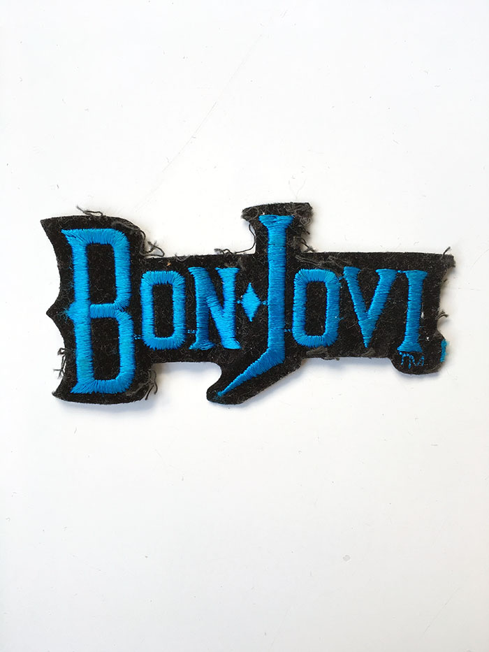 Bon Jovi small blue sew on patch - www.bonjovisale.com