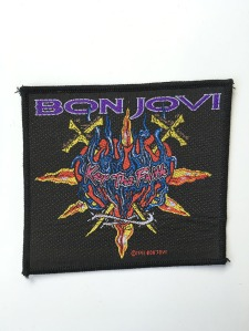 Bon Jovi Flaming Heart Sew on Patch - www.bonjovisale.com