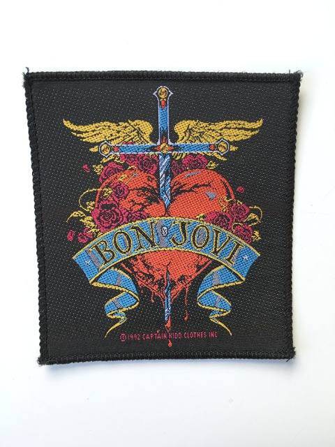 Bon Jovi Heart and Dagger Patch - www.bonjovisale.com