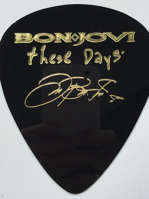 Bon Jovi These Days giant guitar pick