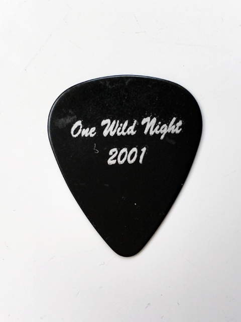 AUTHENTIC Jon Bon Jovi Guitar Pick from One Wild Night Tour 2001 - www.bonjovisale.com