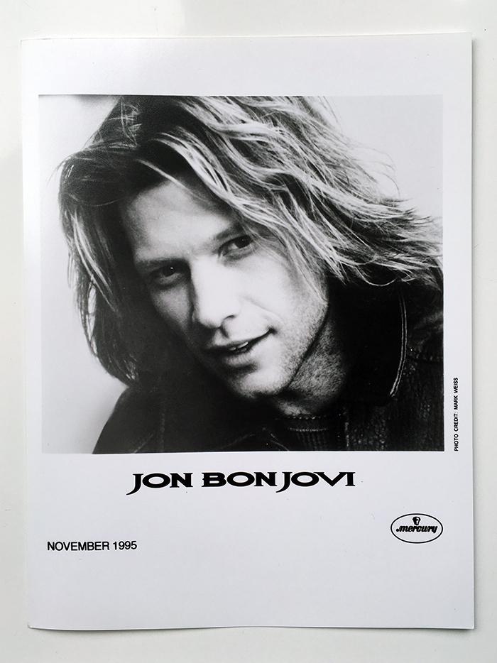 Jon Bon Jovi - Official Mercury PR headshot by Mark Weiss, November 1995