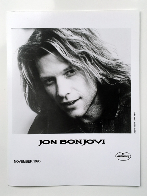 Jon Bon Jovi - Official Mercury PR headshot by Mark Weiss, November 1995