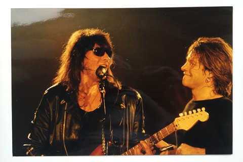 Exclusive photographs of Bon Jovi on stage during 1993, taken by photographer Pete Still for The Concert Photo Co. England.