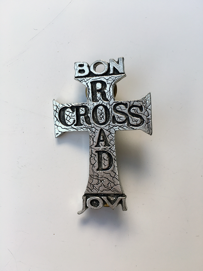 Bon Jovi Cross Road Metal Pin - www.bonjovisale.com