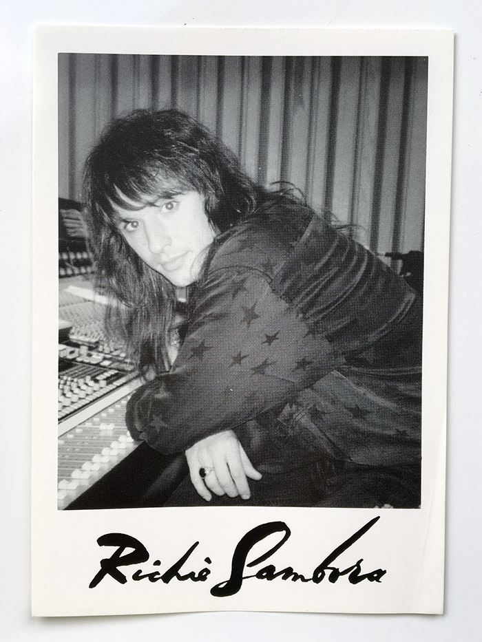 Richie Sambora of Bon Jovi in studio, circa 1992