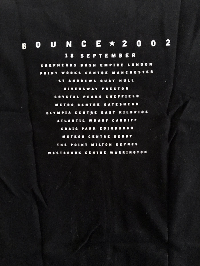 Bon Jovi UK Tour T'Shirt from Bounce Tour, 18 September 2002