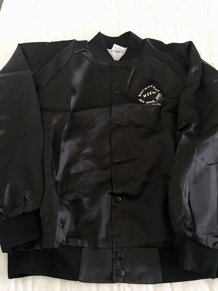 Official Backstage with Jon Bon Jovi These Days Fan Club Jacket
