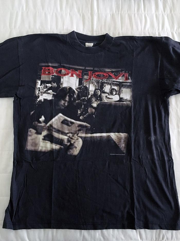 Bon Jovi Mega Rare Official UK Tour T'Shirt from CrossRoad Tour, 24 June 1995, Wembley Stadium