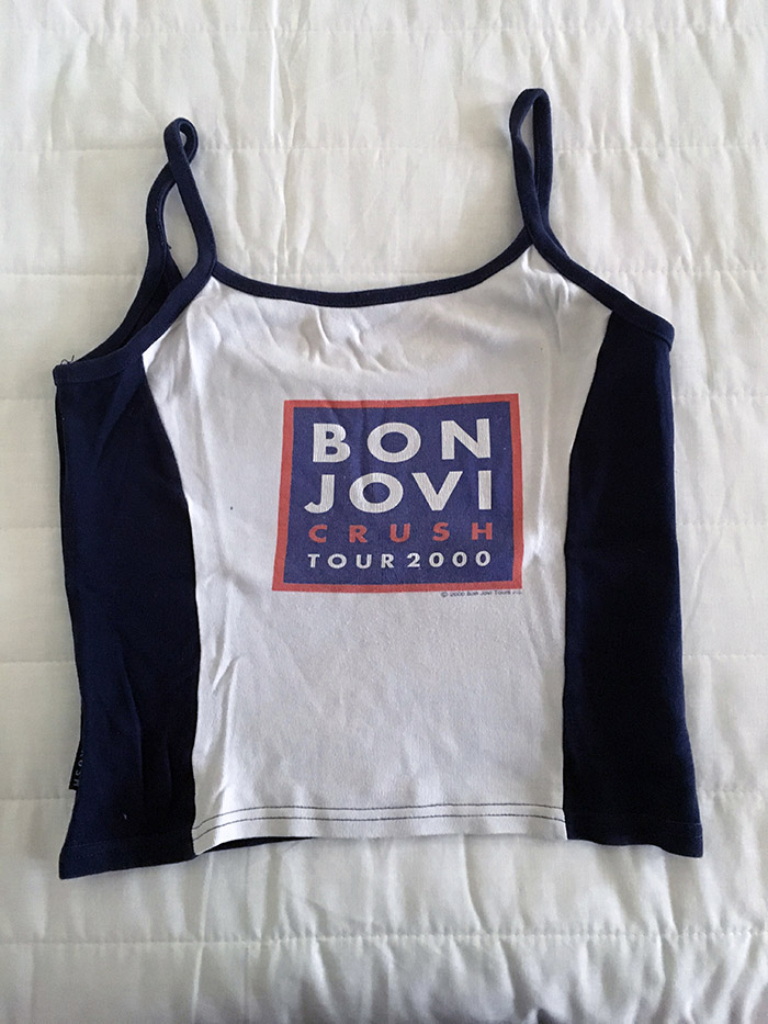 Ladies' Vest - Official Tour Merchandise from Bon Jovi's Crush UK Tour, August 2000